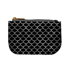 Scales1 Black Marble & Gray Metal 2 Mini Coin Purses