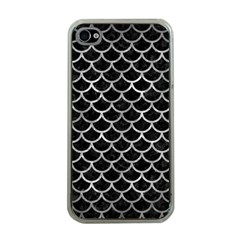 Scales1 Black Marble & Gray Metal 2 Apple Iphone 4 Case (clear)