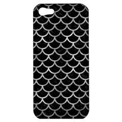 Scales1 Black Marble & Gray Metal 2 Apple Iphone 5 Hardshell Case