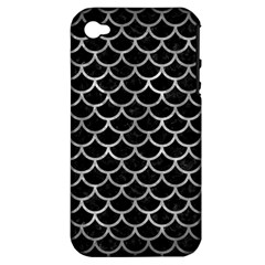 Scales1 Black Marble & Gray Metal 2 Apple Iphone 4/4s Hardshell Case (pc+silicone)