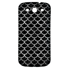 Scales1 Black Marble & Gray Metal 2 Samsung Galaxy S3 S Iii Classic Hardshell Back Case