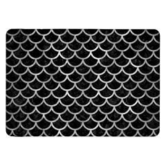Scales1 Black Marble & Gray Metal 2 Samsung Galaxy Tab 8 9  P7300 Flip Case