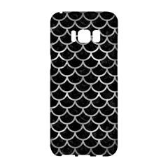Scales1 Black Marble & Gray Metal 2 Samsung Galaxy S8 Hardshell Case
