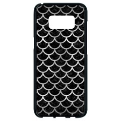 Scales1 Black Marble & Gray Metal 2 Samsung Galaxy S8 Black Seamless Case