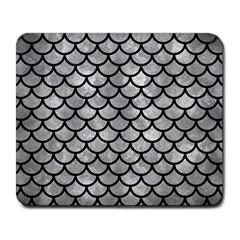 Scales1 Black Marble & Gray Metal 2 (r) Large Mousepads