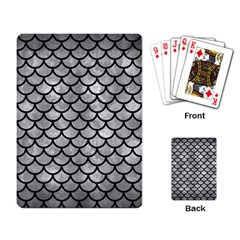 Scales1 Black Marble & Gray Metal 2 (r) Playing Card