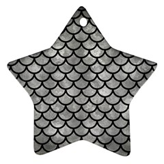 Scales1 Black Marble & Gray Metal 2 (r) Star Ornament (two Sides)