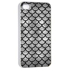 Scales1 Black Marble & Gray Metal 2 (r) Apple Iphone 4/4s Seamless Case (white)