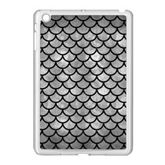 Scales1 Black Marble & Gray Metal 2 (r) Apple Ipad Mini Case (white)