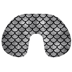 Scales1 Black Marble & Gray Metal 2 (r) Travel Neck Pillows