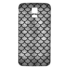 Scales1 Black Marble & Gray Metal 2 (r) Samsung Galaxy S5 Back Case (white)