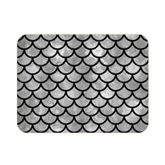 Scales1 Black Marble & Gray Metal 2 (r) Double Sided Flano Blanket (mini)