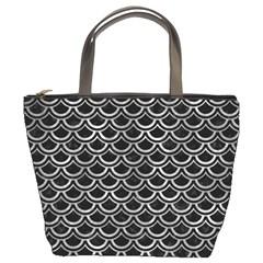 Scales2 Black Marble & Gray Metal 2 Bucket Bags