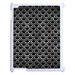 Scales2 Black Marble & Gray Metal 2 Apple Ipad 2 Case (white)