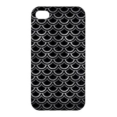 Scales2 Black Marble & Gray Metal 2 Apple Iphone 4/4s Hardshell Case