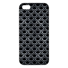 Scales2 Black Marble & Gray Metal 2 Apple Iphone 5 Premium Hardshell Case