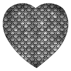 Scales2 Black Marble & Gray Metal 2 (r) Jigsaw Puzzle (heart)