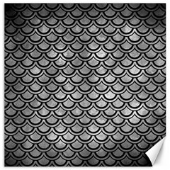 Scales2 Black Marble & Gray Metal 2 (r) Canvas 16  X 16