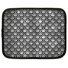 Scales2 Black Marble & Gray Metal 2 (r) Netbook Case (large)