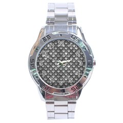 Scales2 Black Marble & Gray Metal 2 (r) Stainless Steel Analogue Watch