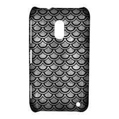Scales2 Black Marble & Gray Metal 2 (r) Nokia Lumia 620