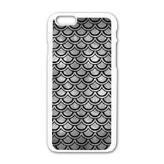 Scales2 Black Marble & Gray Metal 2 (r) Apple Iphone 6/6s White Enamel Case