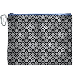 Scales2 Black Marble & Gray Metal 2 (r) Canvas Cosmetic Bag (xxxl)