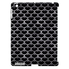 Scales3 Black Marble & Gray Metal 2 Apple Ipad 3/4 Hardshell Case (compatible With Smart Cover)