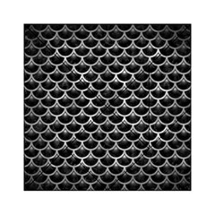 Scales3 Black Marble & Gray Metal 2 Acrylic Tangram Puzzle (6  X 6 )