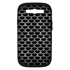 Scales3 Black Marble & Gray Metal 2 Samsung Galaxy S Iii Hardshell Case (pc+silicone)