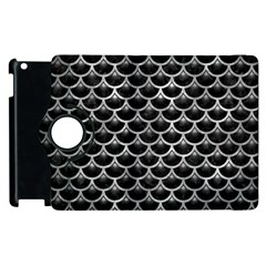 Scales3 Black Marble & Gray Metal 2 Apple Ipad 3/4 Flip 360 Case
