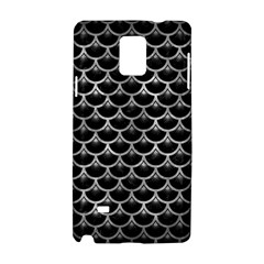 Scales3 Black Marble & Gray Metal 2 Samsung Galaxy Note 4 Hardshell Case