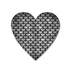 Scales3 Black Marble & Gray Metal 2 (r) Heart Magnet