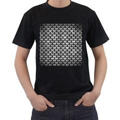 Scales3 Black Marble & Gray Metal 2 (r) Men s T Shirt (black)