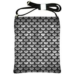 Scales3 Black Marble & Gray Metal 2 (r) Shoulder Sling Bags