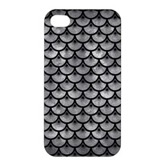 Scales3 Black Marble & Gray Metal 2 (r) Apple Iphone 4/4s Hardshell Case