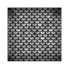 Scales3 Black Marble & Gray Metal 2 (r) Acrylic Tangram Puzzle (6  X 6 )