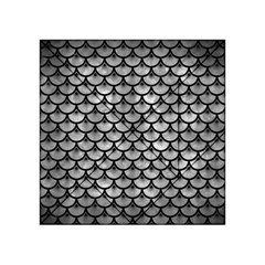 Scales3 Black Marble & Gray Metal 2 (r) Acrylic Tangram Puzzle (4  X 4 )