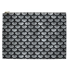 Scales3 Black Marble & Gray Metal 2 (r) Cosmetic Bag (xxl)