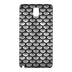 Scales3 Black Marble & Gray Metal 2 (r) Samsung Galaxy Note 3 N9005 Hardshell Back Case