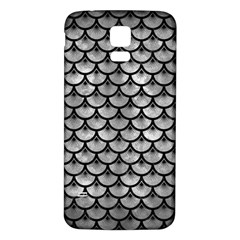 Scales3 Black Marble & Gray Metal 2 (r) Samsung Galaxy S5 Back Case (white)