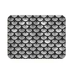 Scales3 Black Marble & Gray Metal 2 (r) Double Sided Flano Blanket (mini)