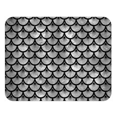 Scales3 Black Marble & Gray Metal 2 (r) Double Sided Flano Blanket (large)