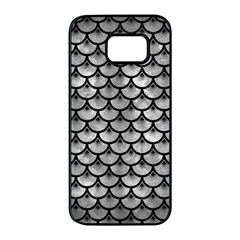 Scales3 Black Marble & Gray Metal 2 (r) Samsung Galaxy S7 Edge Black Seamless Case