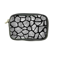 Skin1 Black Marble & Gray Metal 2 Coin Purse