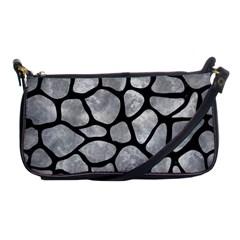 Skin1 Black Marble & Gray Metal 2 Shoulder Clutch Bags