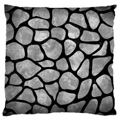 Skin1 Black Marble & Gray Metal 2 Large Cushion Case (one Side)