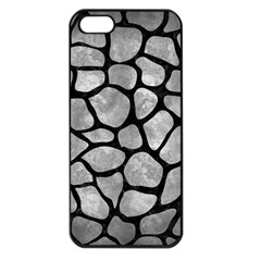 Skin1 Black Marble & Gray Metal 2 Apple Iphone 5 Seamless Case (black)