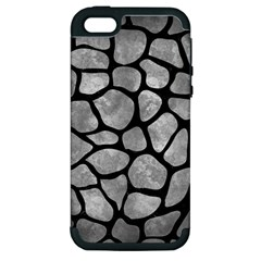 Skin1 Black Marble & Gray Metal 2 Apple Iphone 5 Hardshell Case (pc+silicone)