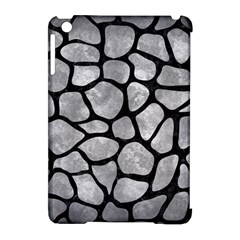 Skin1 Black Marble & Gray Metal 2 Apple Ipad Mini Hardshell Case (compatible With Smart Cover)